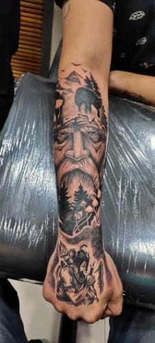 devil tatoo full hand