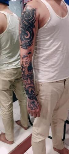 full hand bikaner tatoo
